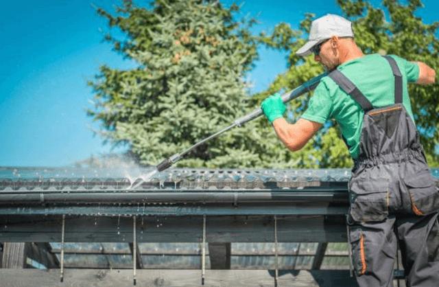 pressure washing roof